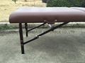 紅棕櫸木MT-009-2H 木製靠背調節便攜式按摩床 7