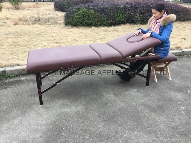 紅棕櫸木MT-009-2H 木製靠背調節便攜式按摩床 9