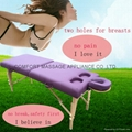 portable massage table with breast holes
