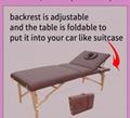 暢銷日本款實木按摩床美容床 靠背調節美容床 3