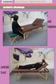 暢銷日本款實木按摩床美容床 靠背調節美容床 5
