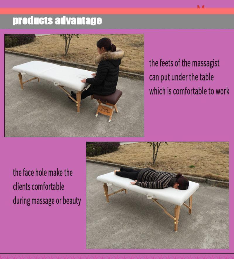 經典折疊木製按摩床MT-003 5
