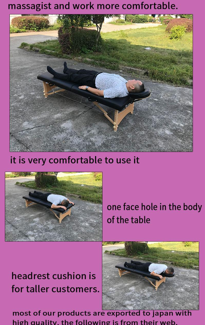 promotional portable massage table MT-006W with headrest 6