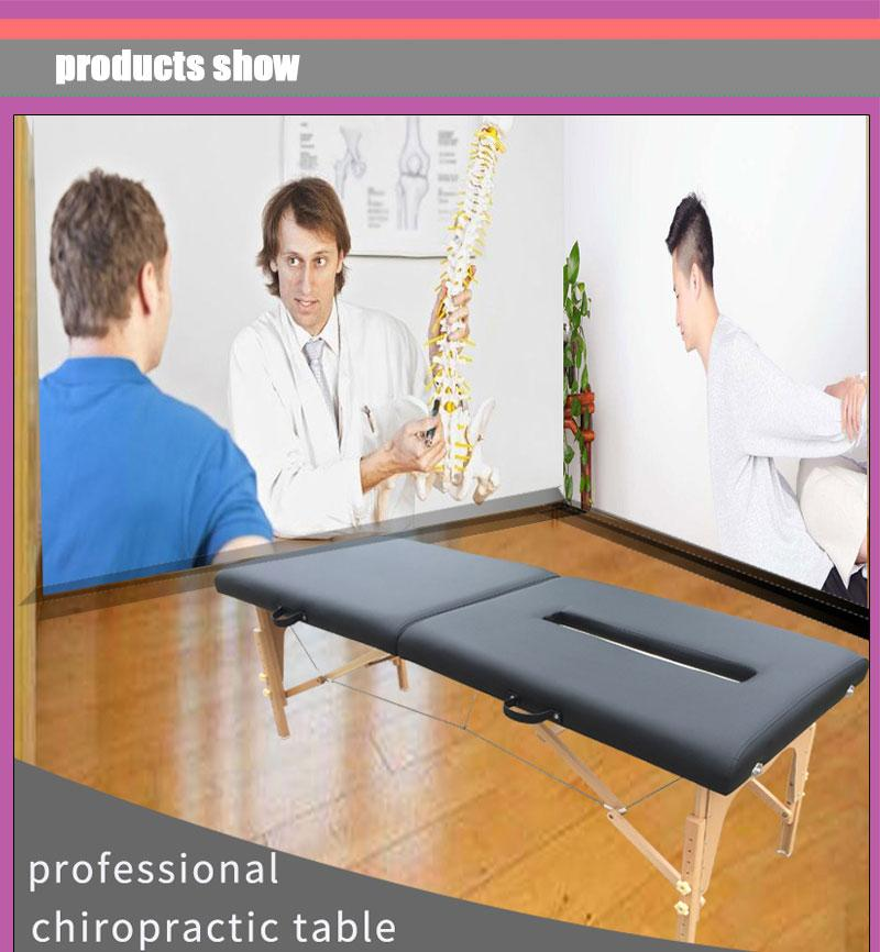 wooden chiropractic table massage table massage bed 1