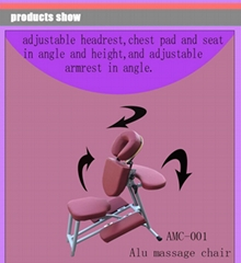 轻型铝合金按摩椅美容椅按摩器材