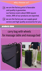 accessories for massage table and massage bed carry bag,bolster,sheet and paper