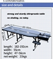 chiropractic table with adjustable height massage table examination table 3