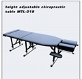 chiropractic table with adjustable height massage table examination table