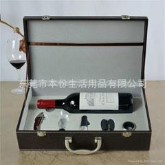 花梨木酒刀5件套單支酒箱
