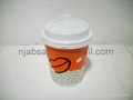8oz Hot Single wall Paper Coffee cup with lids 2