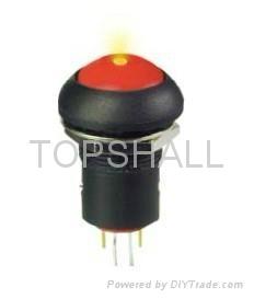 12mm plastic led push button/led switch/illuminated switch 1