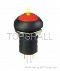 12mm plastic led push button/led switch/illuminated switch