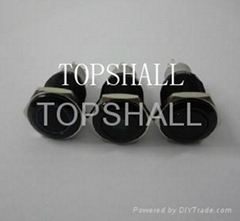 Alloy push button switch/black plated metal push button switch