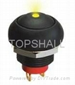 Total plastic latching pushbutton switch