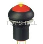 Total plastic latching pushbutton switch/push button lock/maintain switch 3