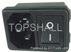 2 in 1 power socket/power socket with rocker switch