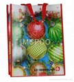 non woven laminated shop bag colorful