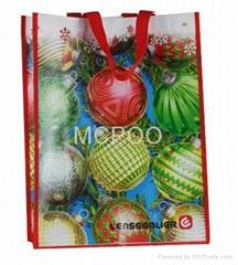 non woven laminated shop bag colorful printing giveaway  ads bag