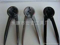 廠家批發新款多功能直柄鋁合金核桃夾堅果夾