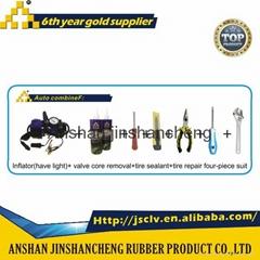 emergency tools kit tyre inflator air pump tyre sealant tyre sealer