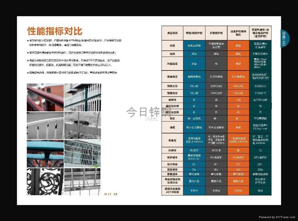 广西红顺缘推出新款木纹色锌钢护栏 2