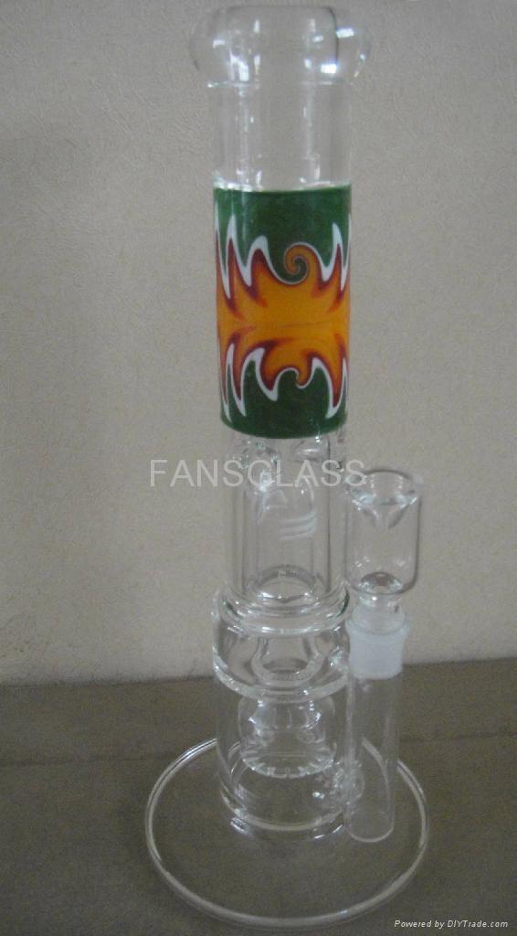 彩花玻璃新款水烟枪 1