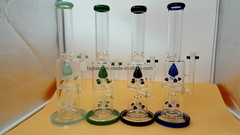 american color glass smoking water pipe
