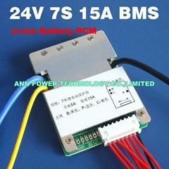 7S 24V 15A BMS Used for 24V Li ion Battery Pack