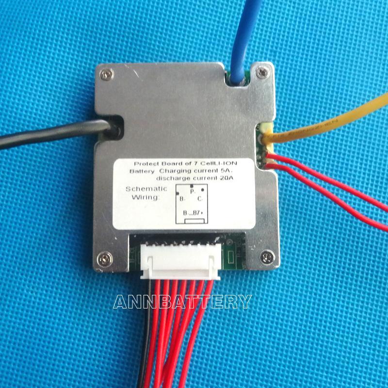 7S 24V 20A BMS Used for 24V Li Ion Battery Pack