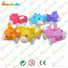 3d soododo shaped animal erasers