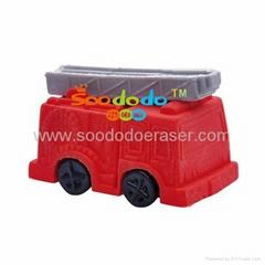 Soododo 3d fire truck shapede erasers