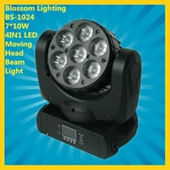 7*10W 4IN1 LED Moving Head Beam Light (BS-1024)