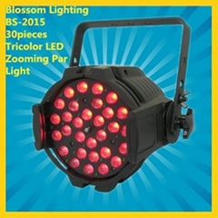 30pieces Tricolor LED Zooming Par Can Stage Light (BS-2015)