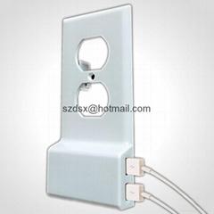 外贸美标USB充电插座面板只换面盖不换插座增加双USB接口安装方便