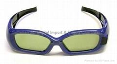 Deluxe Mitsubishi Samsung 3D TV Active Shutter Glasses
