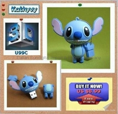 Cartoon Stitch 4GB USB 2.0 Flash Memory Pen Drive Thumb