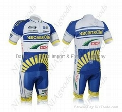 2012 Vacansolei team TourdeFrance cycling jersey shorts suit