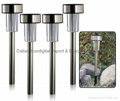 4-Pack: Solar Landscape Lamps With Solar Powered Light