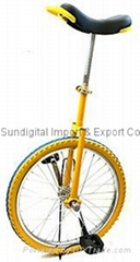 "20"" Wheel Unicycle w/ Free Stand Skid proof Butyl Tire Cycling Bike Cycle"
