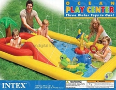 INTEX INFLATABLE OCEAN FUN POOL CHILD TODDLER KIDDIE WADDING PLAY SWIMMING POOL