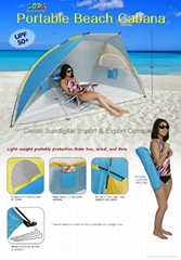 Portable Pop Up Cabana Beach Shelter Tent Shade by COPA