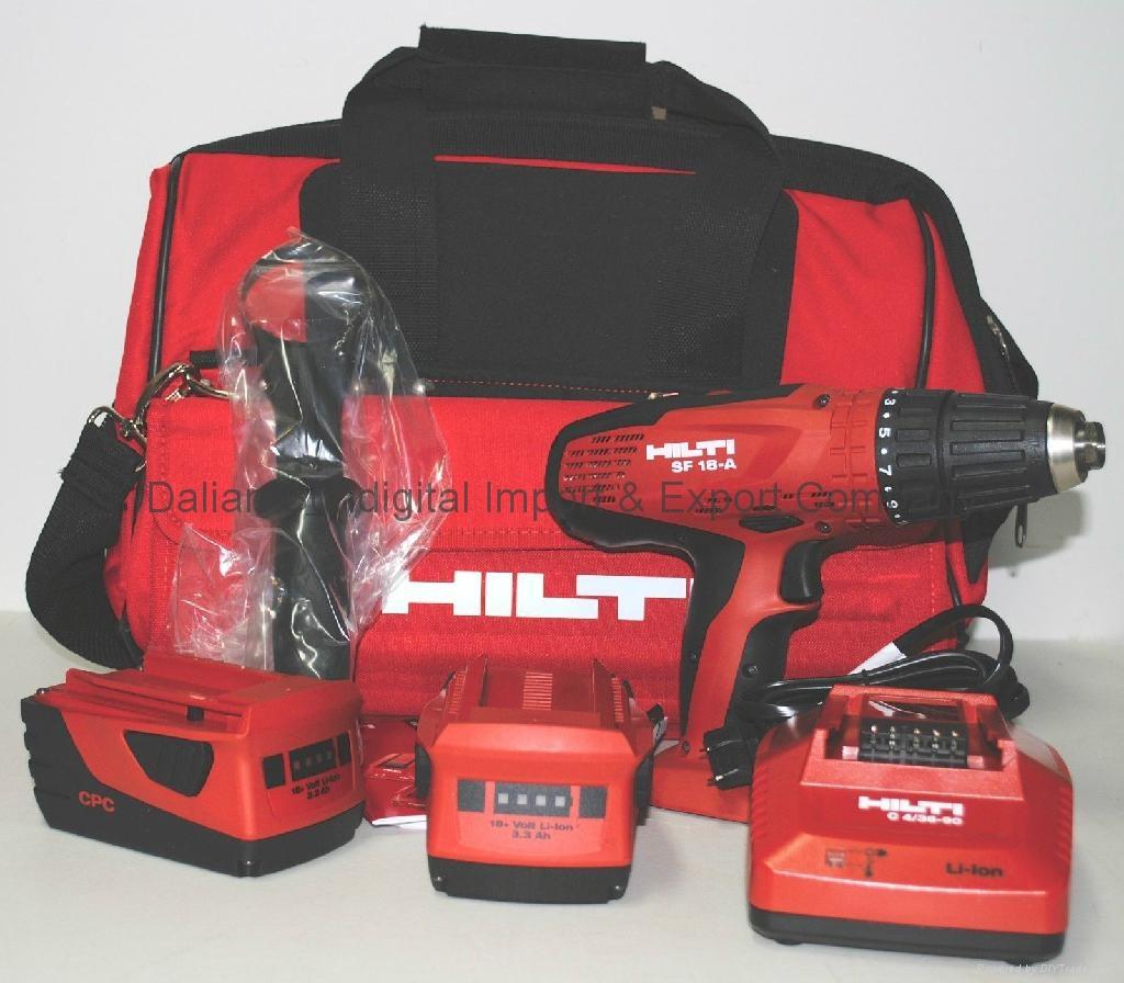 hilti sf 18 a 18v cordless drill driver kit brand new. Black Bedroom Furniture Sets. Home Design Ideas
