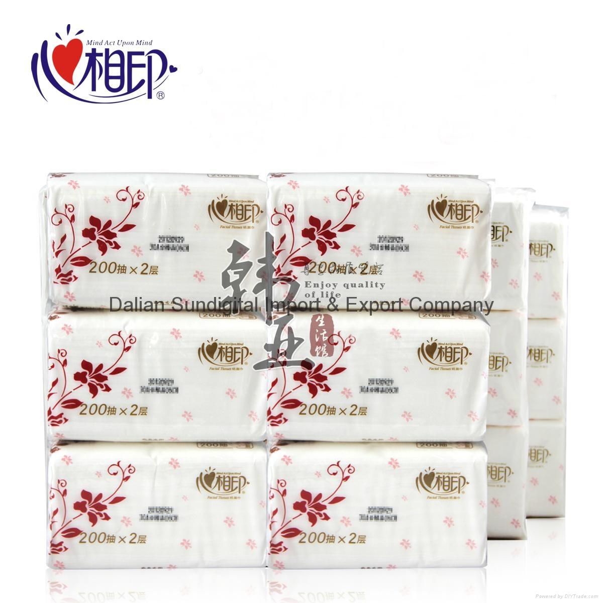 Xinxiangyin RDT200 soft box tissue paper kitchen napkin, toilet paper 1