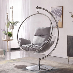 Transparent acrylic hanging bubble chair egg chair acrylic chair with stand