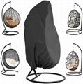 UV-resistant waterproof outdoor patio single seat egg swing hanging chair cover