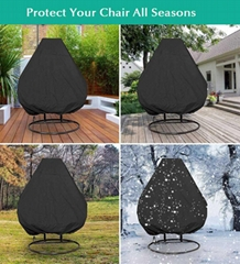 UV-resistant waterproof outdoor patio double seats egg swing hanging chair cover
