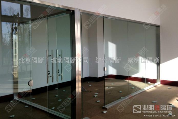 办公室不锈钢玻璃隔断墙 2