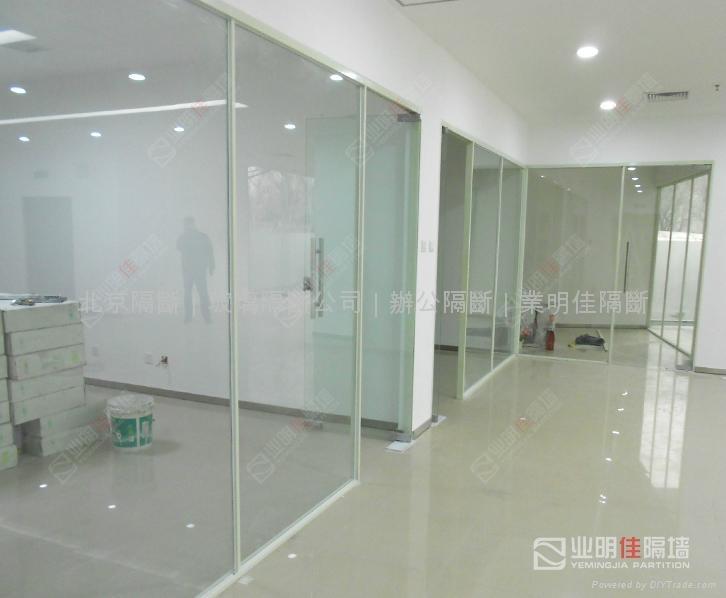 办公室不锈钢玻璃隔断墙 5