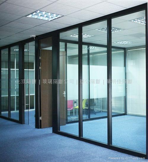 办公玻璃隔断墙 1