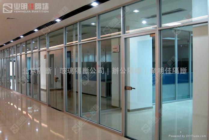 业明佳80系列办公室防火玻璃墙 2